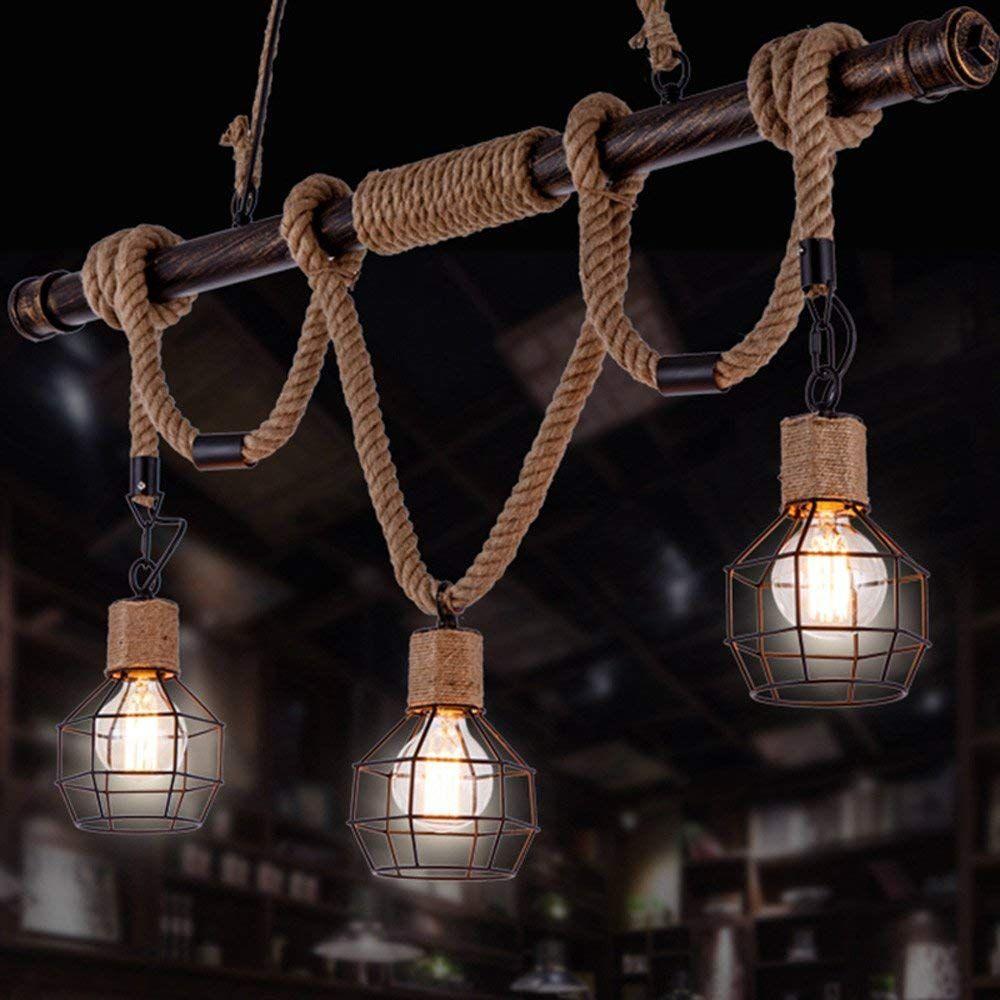 Nordic Design Creative Iron Pendelleuchten Kronleuchter American Country Wohnzimmer Restaurant Deckenleuchte Retro I Hangeleuchte Retro Industrial Kronleuchter