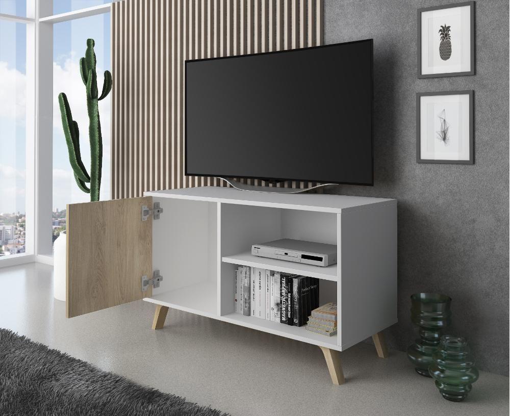 Mueble Tv 100 Modelo Wind Color Estructura Blanco Color Puerta Puccini Muebles Para Tv Muebles Mueble Tv Blanco