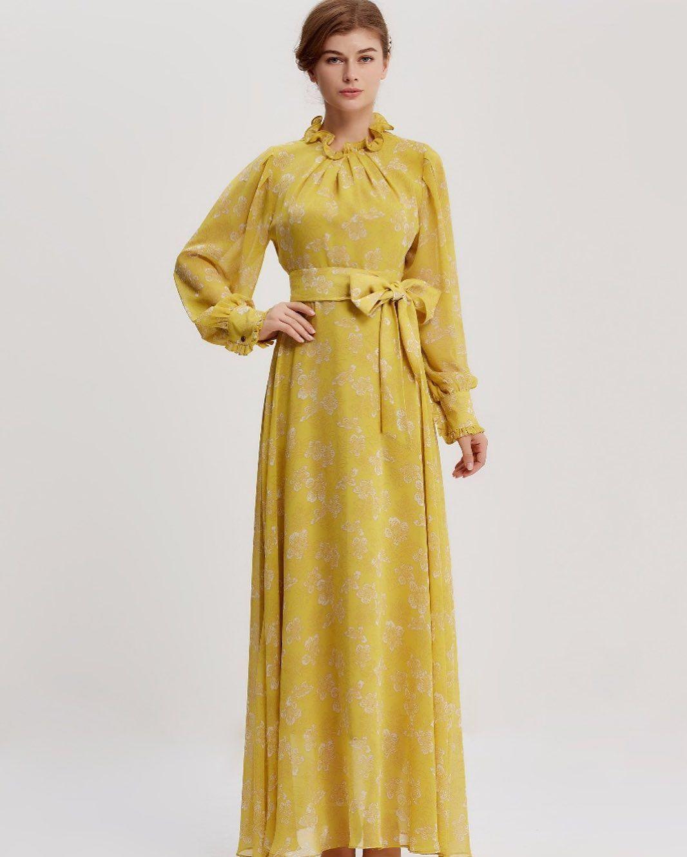 فستان اصفر Fashion Image
