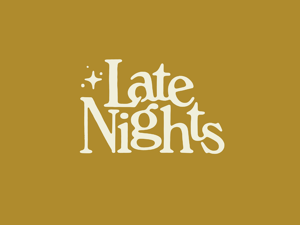 Late Nights Lettering Typography Logo Typography