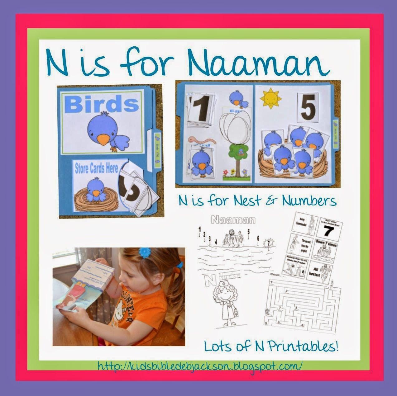 Bible Fun For Kids: Preschool Alphabet: N is for Naaman | biblia ...