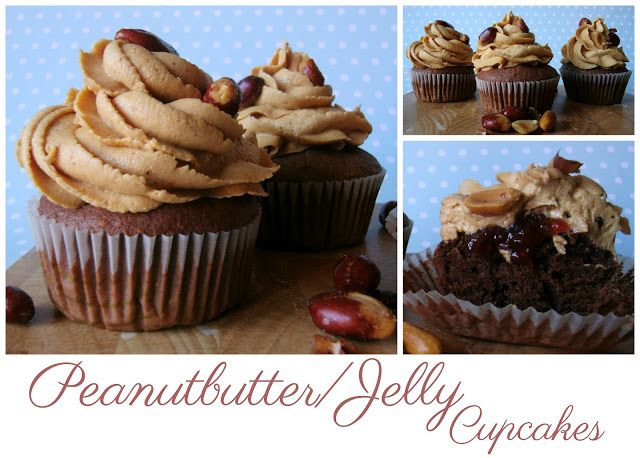 Peanutbutter/Jelly Cupcakes