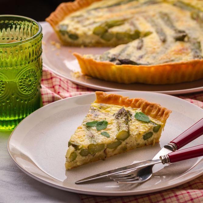 Quiche aux asperges et fromage de chèvre