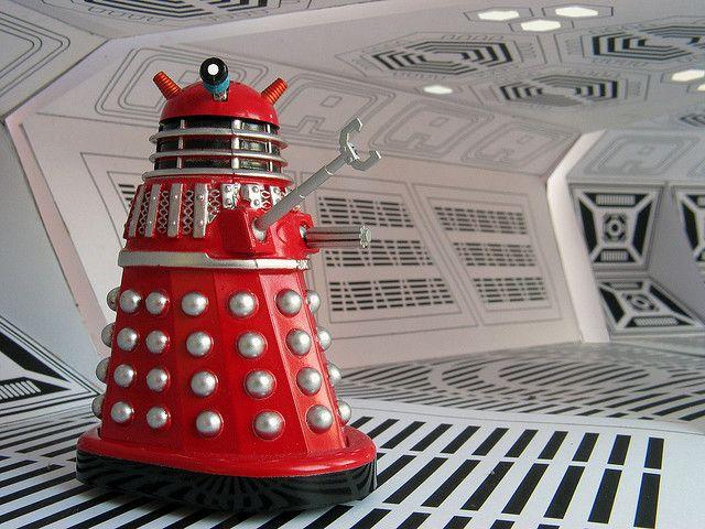 Red Dalek...cool!