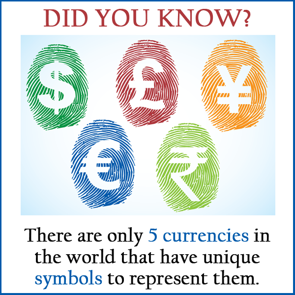 Did You Know There Are Only 5 Currencies In The World That Have