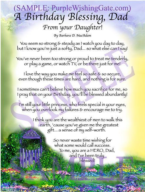 A Birthday Blessing for my Dad   For Dad <3   Wedding prayer