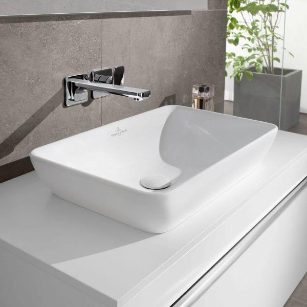 Artis Rectangular Counter Top Basin by Villeroy \ Boch  Just - villeroy und boch badezimmermöbel