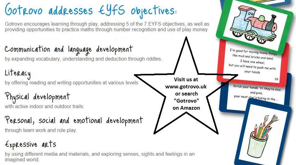 EYFS Treasure Hunt Addresses 5 of the EYFS objectives
