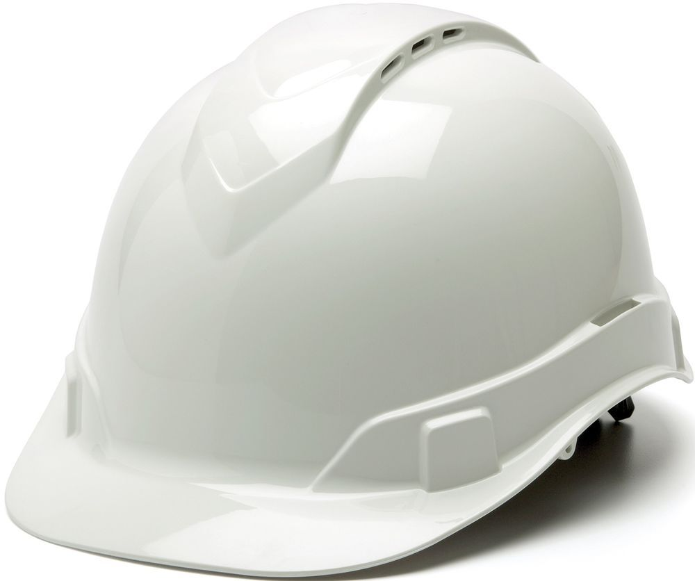 White Hard Hat Vented Type Safety Helmet Ridge Line Cap Style 4 Point Ratchet Hard Hat Hard Hats Best Hard Hat