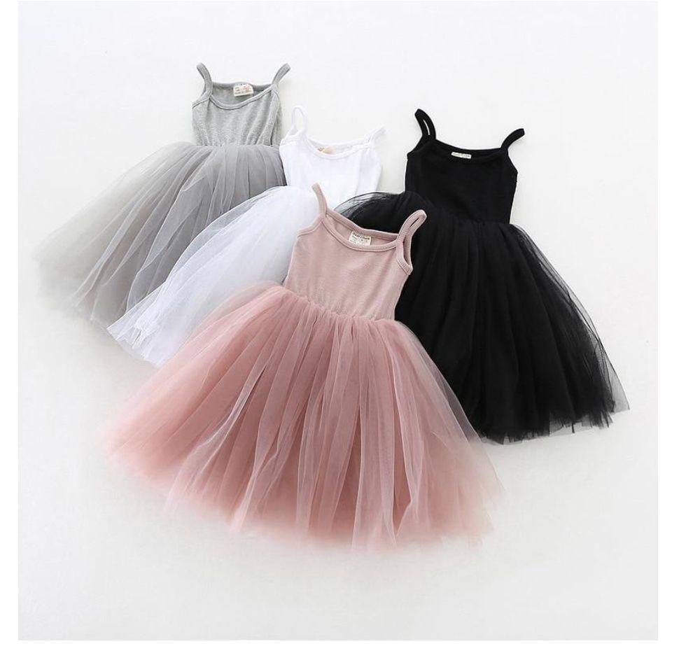 Toddler Girl Sleeveless Tulle Skirt Baby Kid Summer Party Princess Dress 3-24M