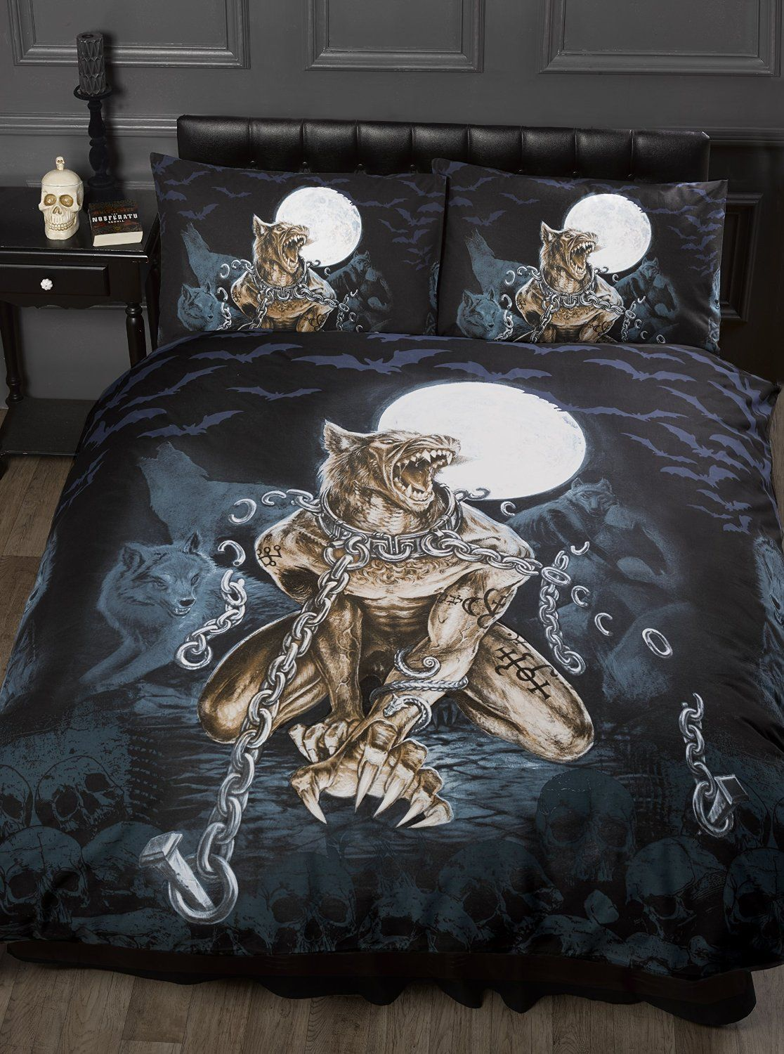 Single Bed Loups Garou Alchemy Gothic Duvet Quilt Cover Bedding