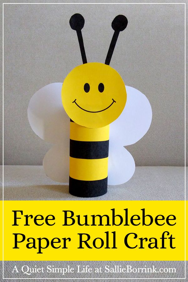 Bumblebee Paper Roll Craft
