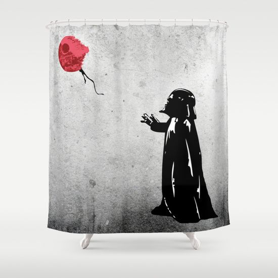 Little Vader Inspired By Banksy Shower Curtain Kamonkey