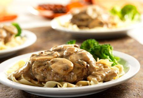 recipe: mushroom smothered beef burgers [5]
