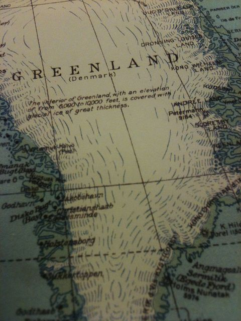 old national geographic world map greenland