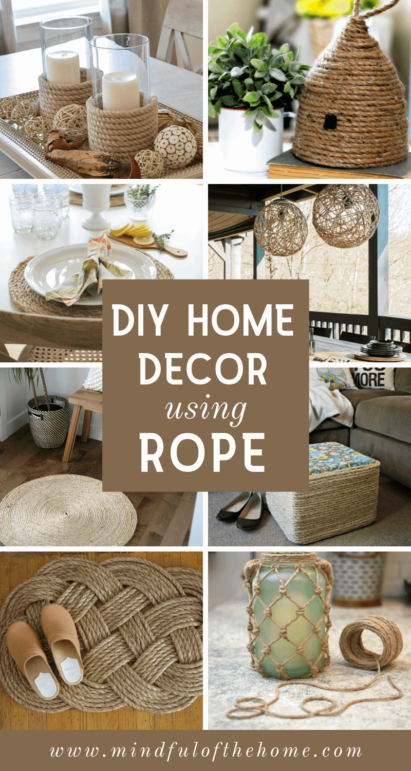 Photo of 15 DIY Home Decor Ideas Using Rope,  #Decor #DIY #Home #Ideas #Rope