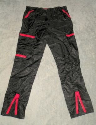 95464f2b3f6 Vtg 80s Shiny Black Red Nylon Parachute Pants. These were my fav clothing  preference of the 80's. WHEN WILL THESE EVER COME BACK IN STYLE??
