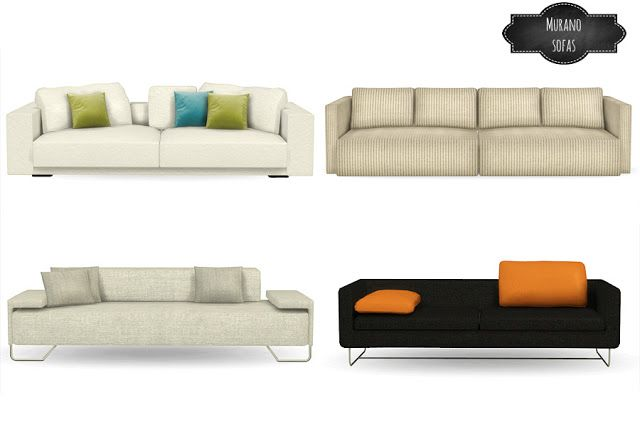 Murano Sofa Conversions Mio Sims Sims 4 Cc Pinterest