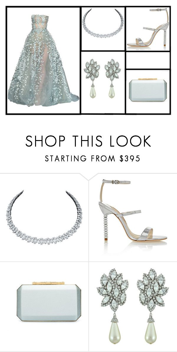 """""""Outfit # 3210"""" by miriam83 ❤ liked on Polyvore featuring Harry Winston, Sophia Webster, Oscar de la Renta and Ciner"""