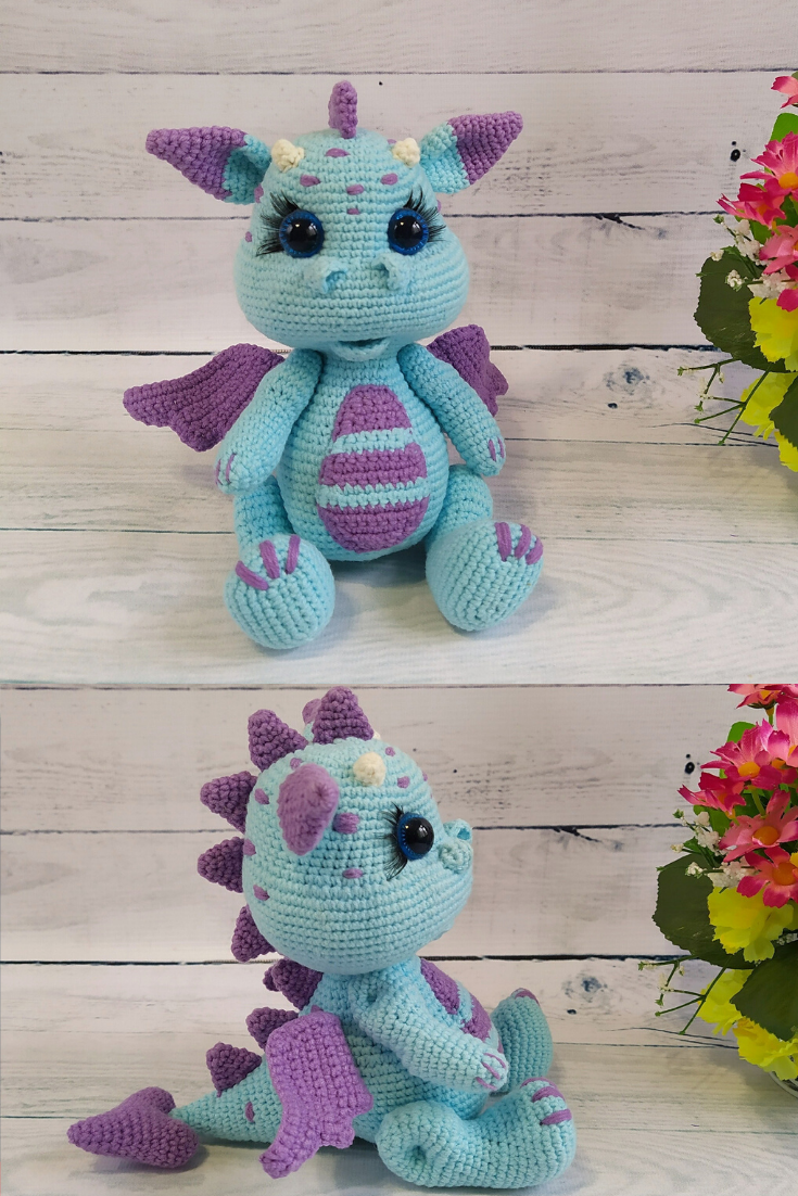 Cute dragon doll monster toy gift #dollcare