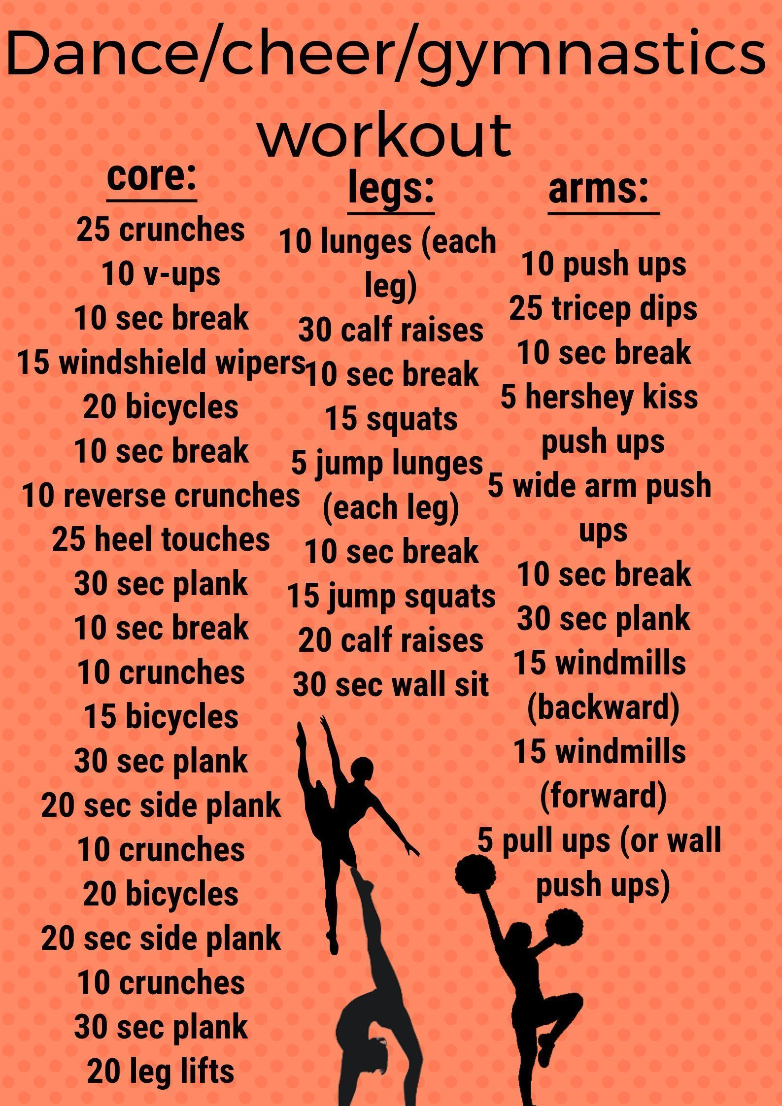 Gymnastics workout, Dancer workout, Cheer workouts, Cheerleading workouts, Dance workout, Flexibility workout - gymnast  I am a dancer and a cheerleader and I do this 6 days a week  -  #Gymnasticsworkout #exercise6daysaweek #cheerworkouts Gymnastics workout, Dancer workout, Cheer workouts, Cheerleading workouts, Dance workout, Flexibility workout - gymnast  I am a dancer and a cheerleader and I do this 6 days a week  -  #Gymnasticsworkout #exercise6daysaweek #cheerworkouts
