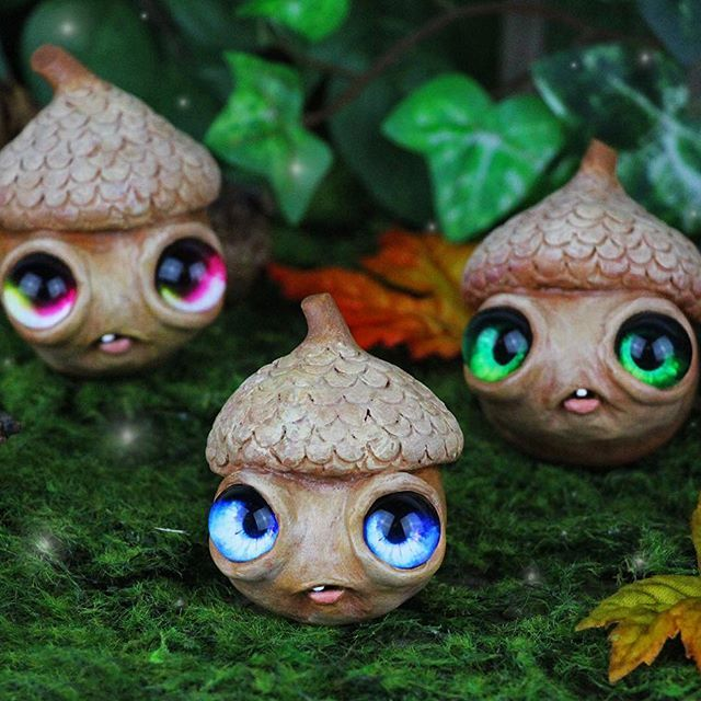 Acorns By Jackie Harder Art Polymer Clay Acorns Polymer Clay