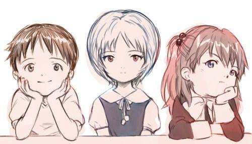 綾波レイ三人幼い