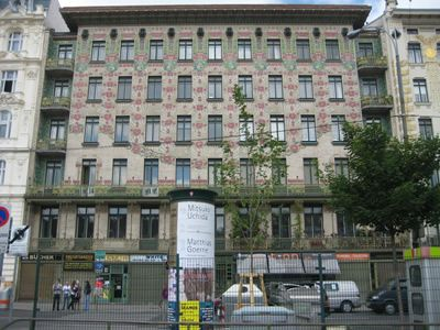 Majolica House by Otto Wagner. Vienna, 1899. My favorite example of art nouveau in Vienna.