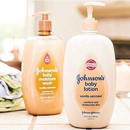 Johnson S Baby Vanilla Oatmeal Moisture Wash Lotion Set Baby