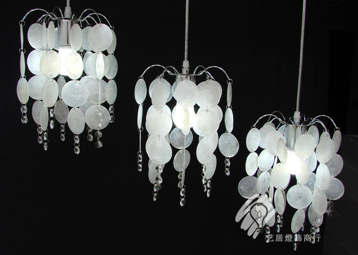 115.00$  Buy now - http://ali2n9.worldwells.pw/go.php?t=998343824 - FREE SHIPPING EMS pendant lights 3HEAD natural shell pendant lamp droplight shell restaurant dining room light ZZP65 115.00$