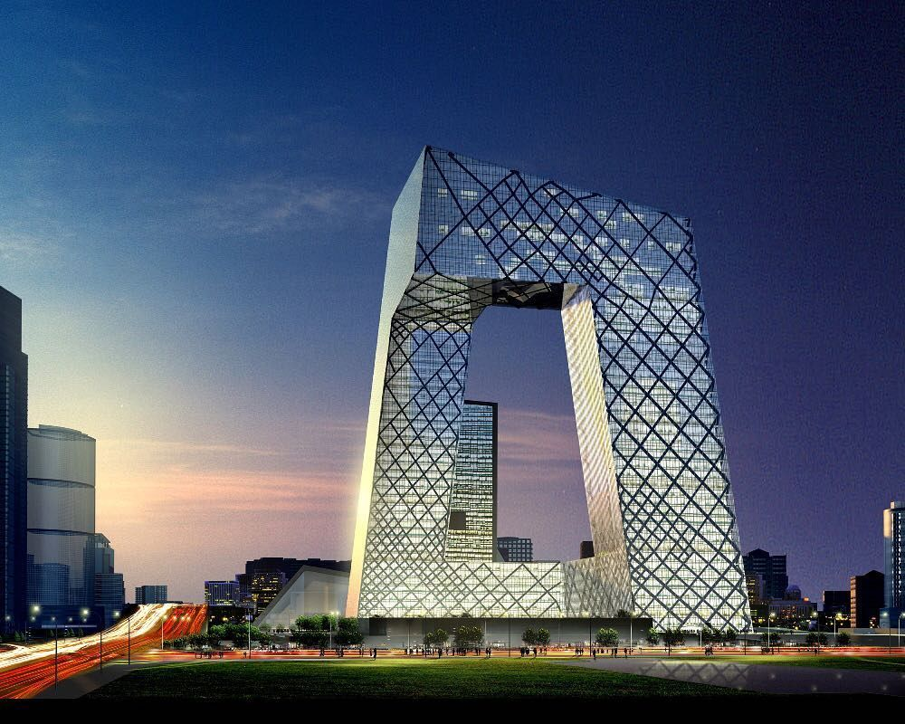OMA CCTV Headquarters Beijing China 2012 Rising from a common