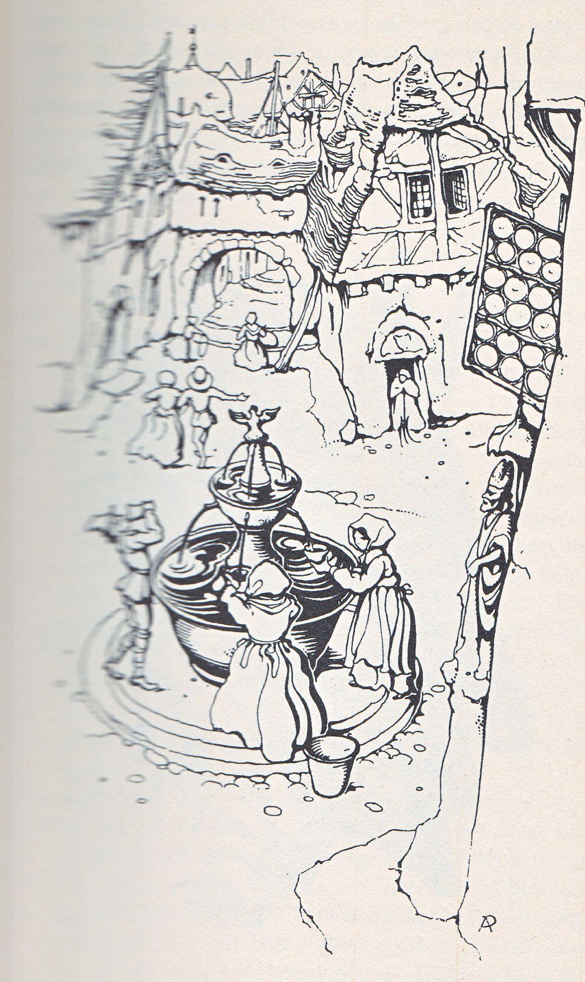 Anton Pieck Uit Grimm De Drie Gouden Haren Van De Duivel 1 Boekillustraties Anton Pentekeningen