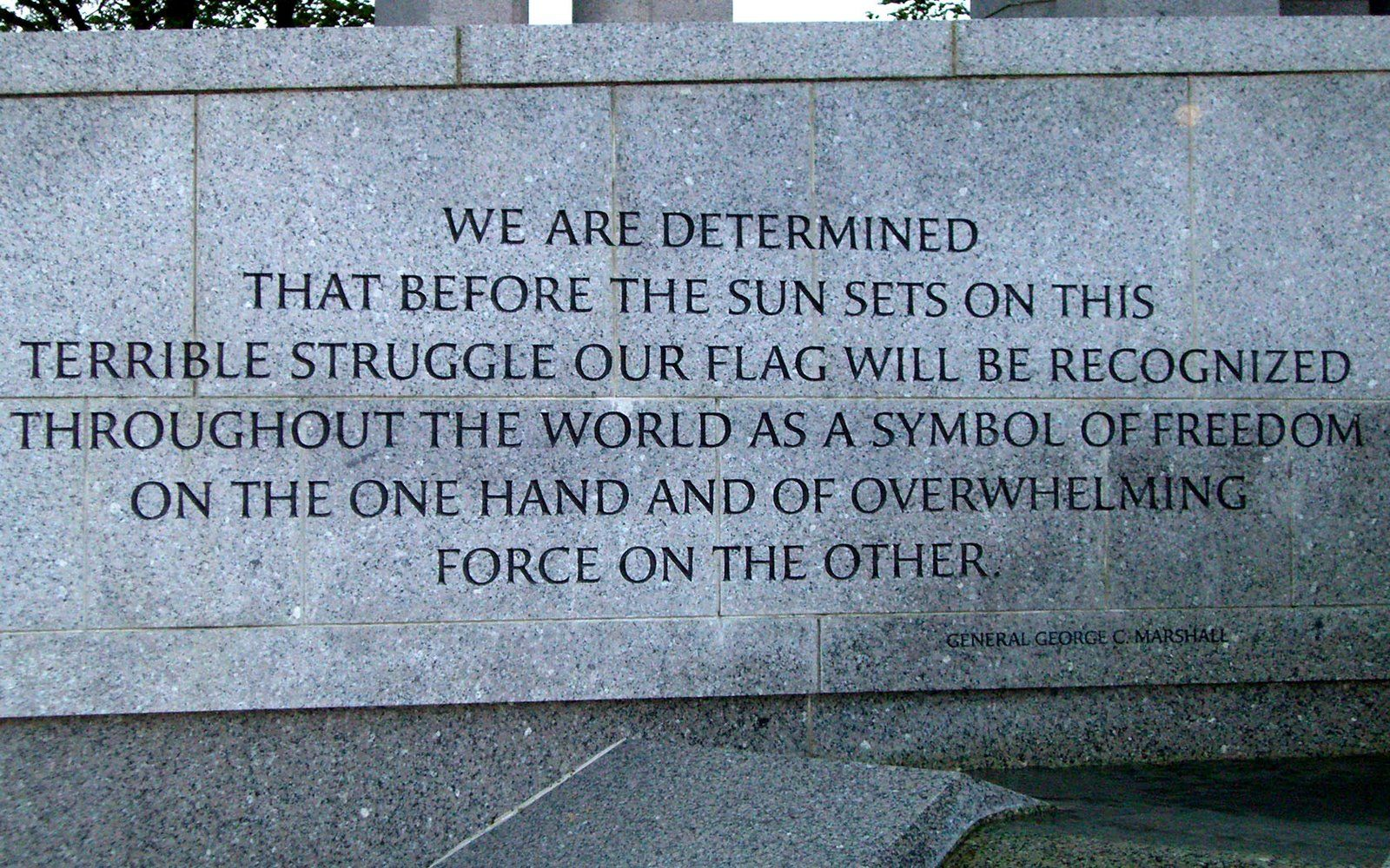 General george c marshall quotes - Free Widescreen Wallpapers World War Ii Memorial General George C Marshall Quote 1680 X 1050