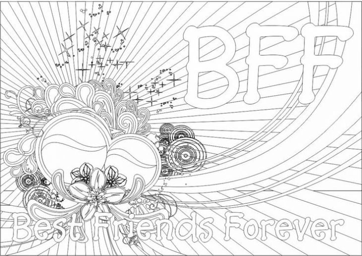 Printable Bff Teenage Coloring Page For Girls Online With Images