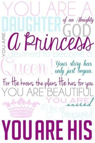 You Are Beautiful Word Daughter Of God God Daughters Of The King