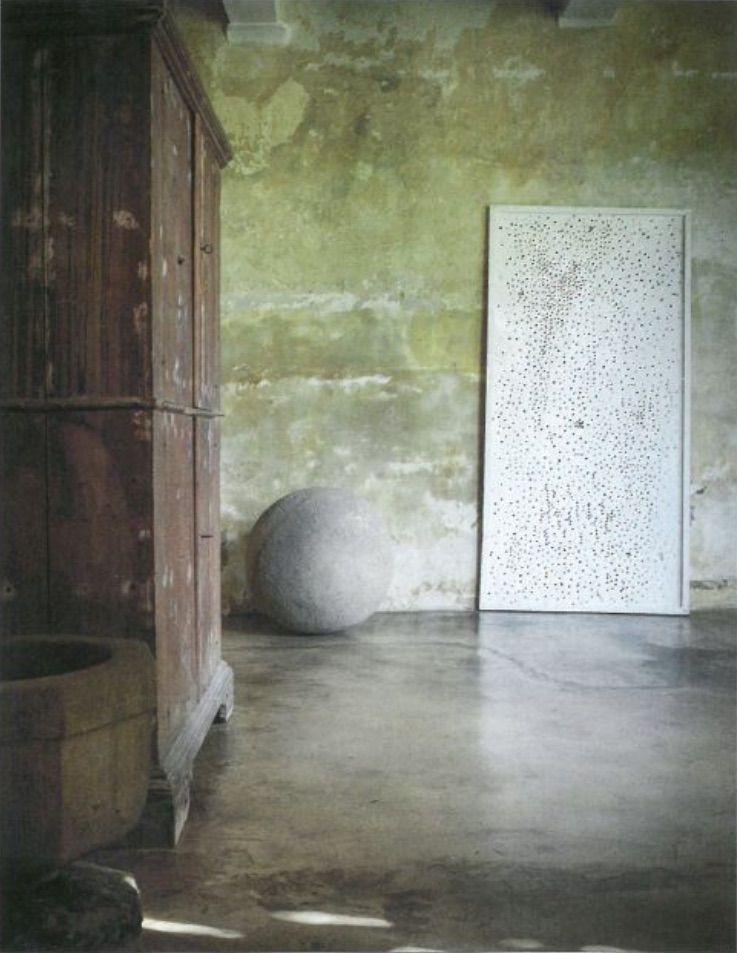 Green walls by Axel Vervoordt Decoració Pinterest Acabado - paredes de cemento