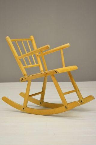 Kinder Schommelstoel Wit.Kinder Schommelstoel Children Rocking Chair 24261 Furniture