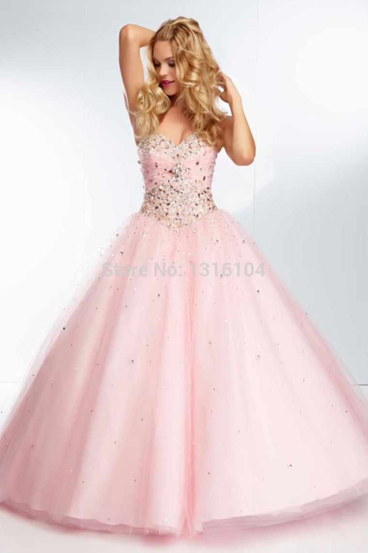 Cecelle 2016 Romantic Sweetheart Ball Gown Prom Dresses Beaded ...