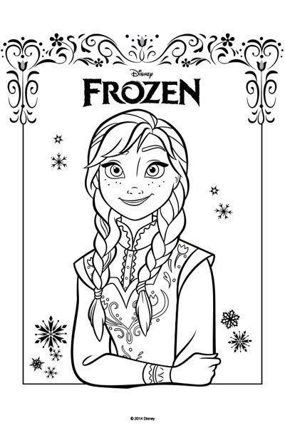Kleurplaten Zomer Frozen.Kleurplaat Anna Disney Kleurplaten Frozen Feestje En Feestje