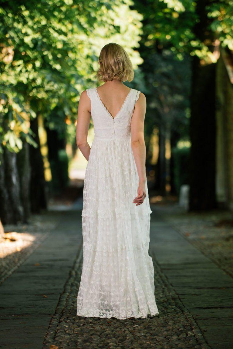 Brautkleid Hippie Style mit Trägern und unglaublicher ...