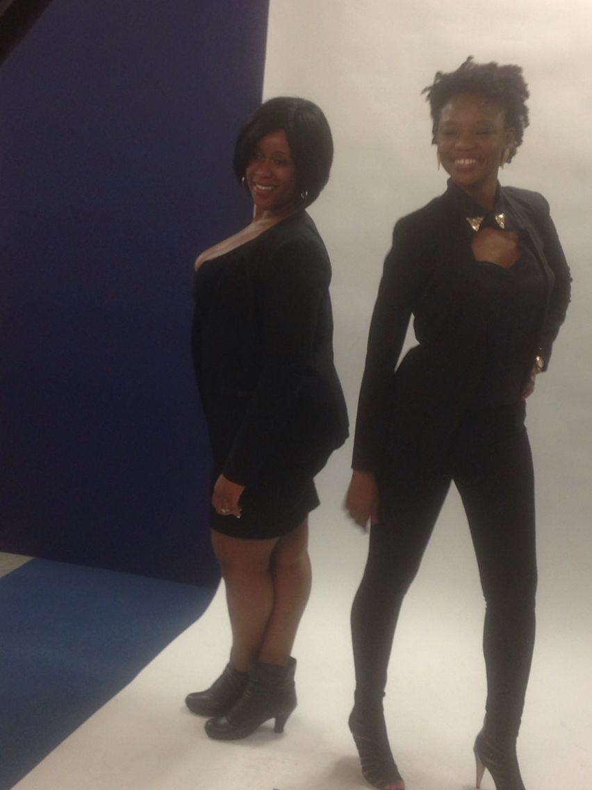 Taf+Shay Photoshoot in all black my favorite color in the world!