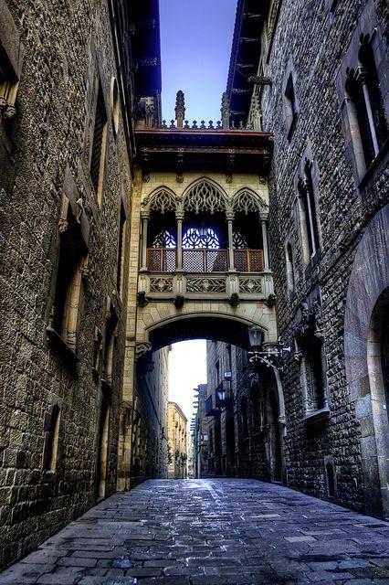"Ancient Bridge, Barcelona, Spain....similar bridge to ""bridge of spies"" in venice"