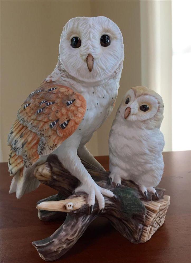 Maruri Eyes Of The Night Barn Owls Fine Porcelain Figurine Studio Design O 8807 Barn Owl Owl Design Studio
