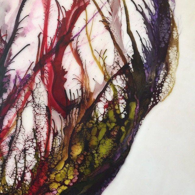 Detail...finishing this one up tonight. #organicpainting #paintinginprogress #painting #fineart #art #artstudio #encaustic #aliciatormey | by Alicia Tormey