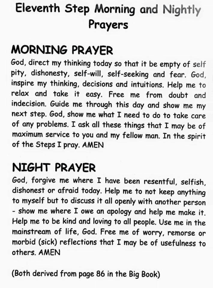 Aa Quote Morning & Evening Prayers Inspiredthe 11Th Step Of Aa Quotes .