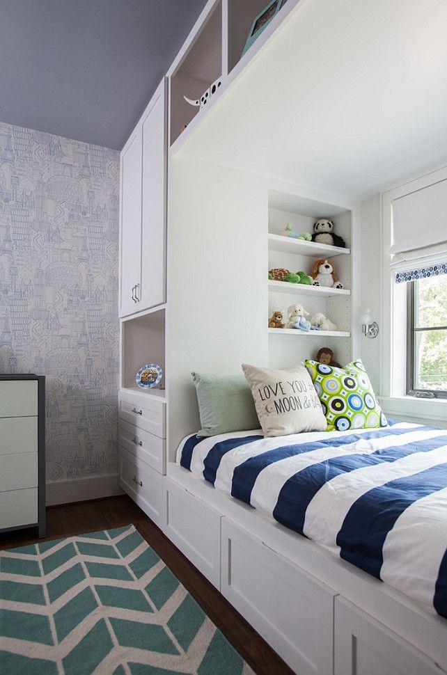 "Interior Design Ideas ""Builtin Bed with Wardrobe"