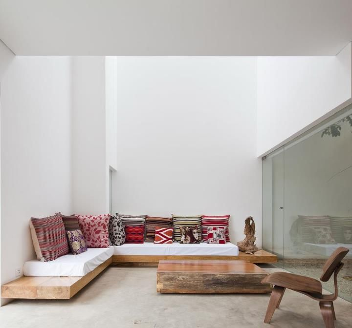 Wooden Base Sofa Very Large Planks My Space