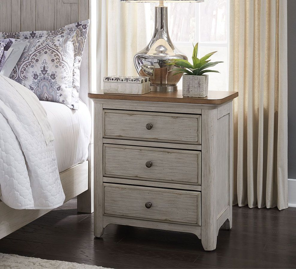 Farmhouse Reimagined 3 Drawers Nightstand