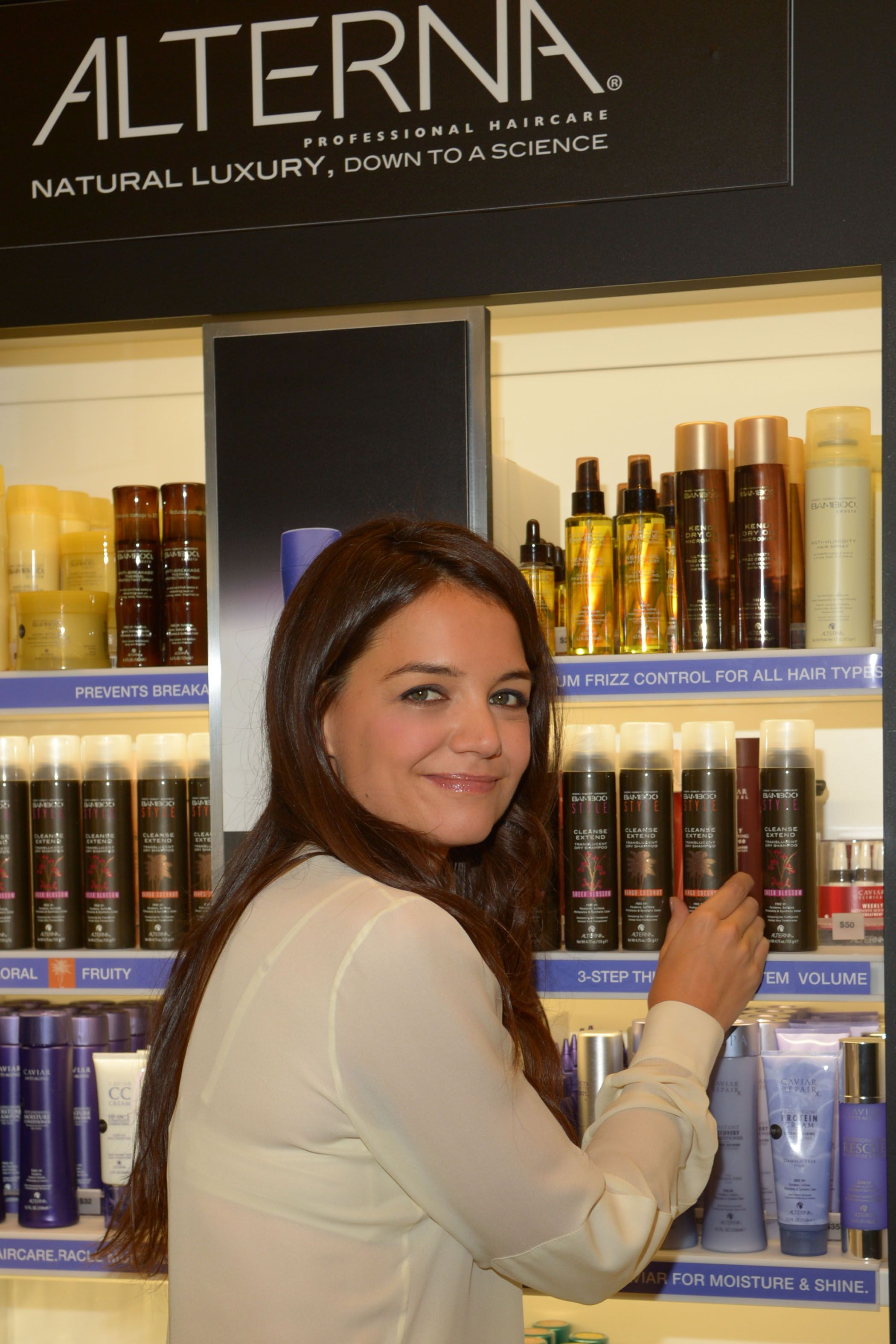 Today Katie Holmes, coowner of Alterna Haircare stopped