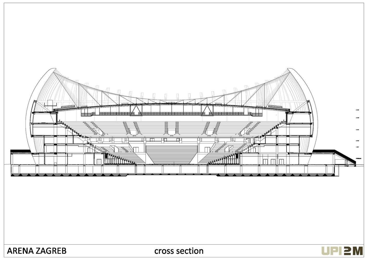Gallery Of Arena Zagreb Upi 2m 43 Zagreb Arena Stadium